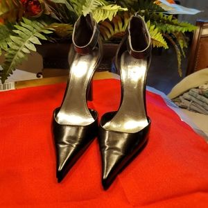 Bakers heels Pointed Toe with  Zip Ankle Strap